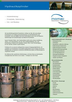 Alle Leistungen rund um die Reparatur von Hydraulikzylindern - momac Hydraulikzylinderinstandsetzung in Moers / NRW, alle Hersteller / Fabrikate
