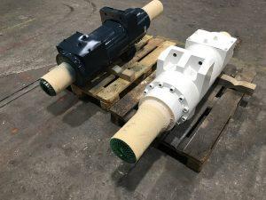 Instandsetzung von Ziehkissenzylindern aus einer Fagorpresse, Gleichgangzylinder mit Kolben ø210mm, Hub 225 mm, nach der Instandsetzung